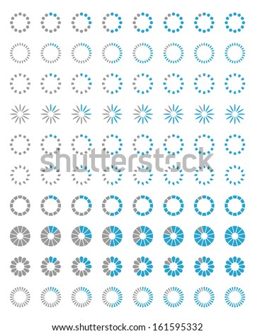 Loading icons. Set 1 - stock vector