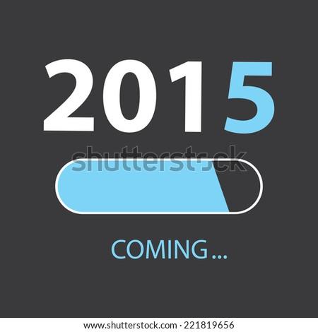 LOADING 2015 Illustration - stock vector