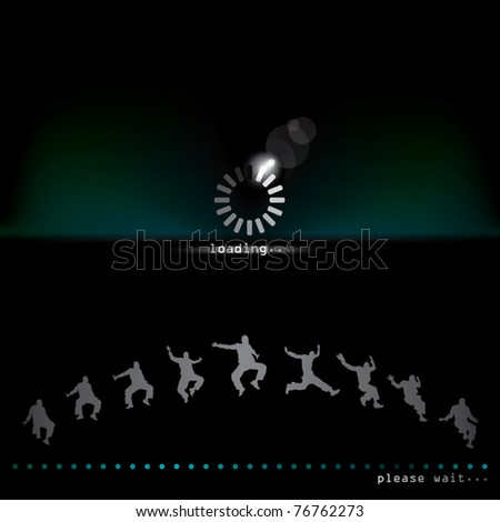 loading page with sequence movement. - stock vector