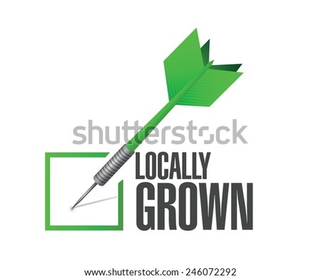 locally grown dart check mark illustration design over a white background - stock vector