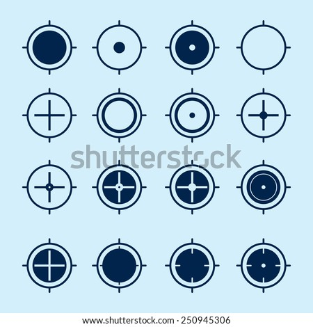 Location Crosshair Icons - stock vector