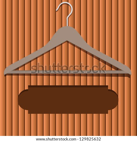 Location for the advertising text under clothes hanger. Vector illustration. - stock vector