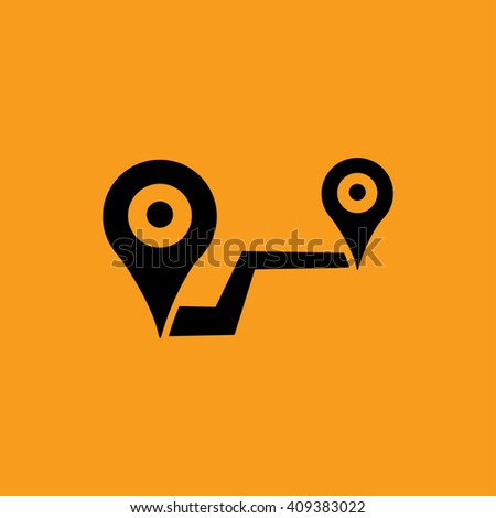 location on road icon vector illustration - stock vector