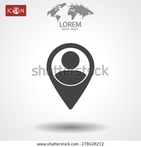 location people icon. Vector Eps 10 - stock vector