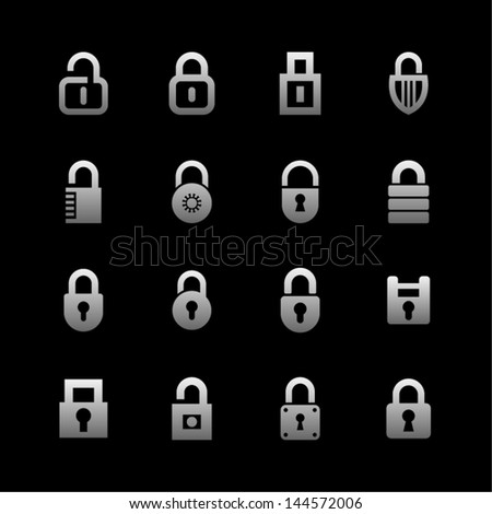 Lock and security pictogram - stock vector