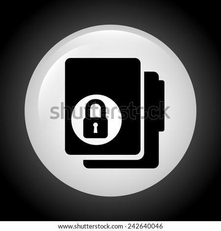 lock folder design - stock vector