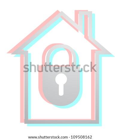 Lock house - stock vector