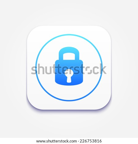 Lock icon. Modern style vector illustration. Isolated on gray background. - stock vector