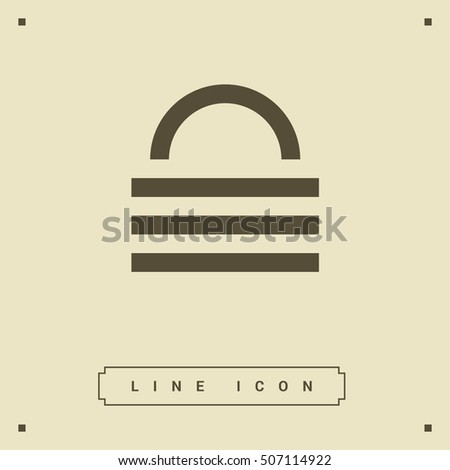 Lock isolated minimal single flat icon. Protect line vector icon for websites and mobile minimalist flat design.