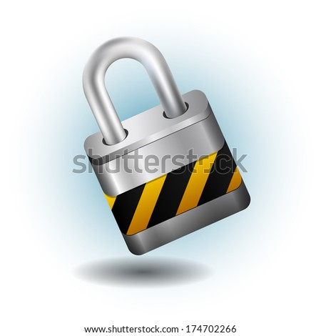 Lock silver - stock vector