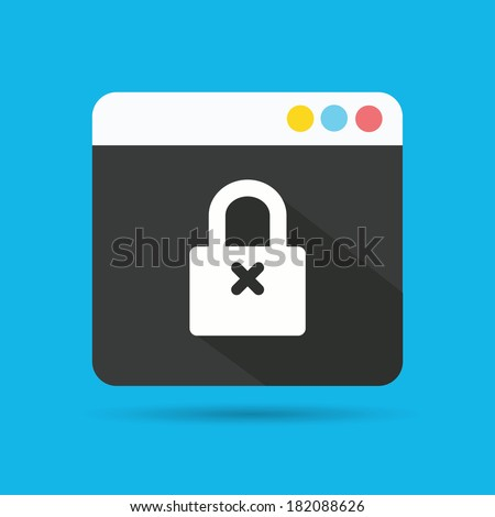 Lock symbol,vector - stock vector