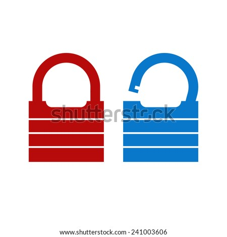 Lock unlock icon - stock vector