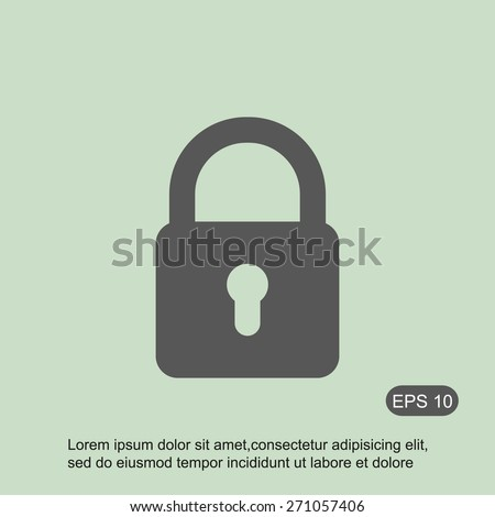 Lock vector icon - stock vector