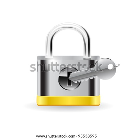 Lock with key. Vector - stock vector