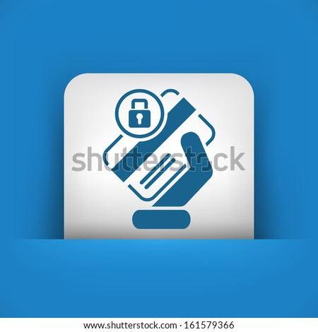 Locked credit card - stock vector