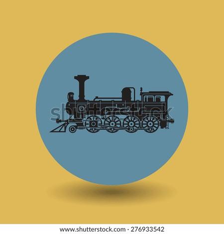 Locomotive symbol, vector illustration - stock vector