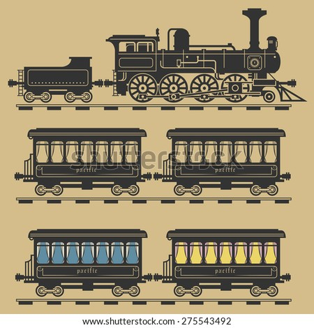 Locomotive train, vector illustration - stock vector