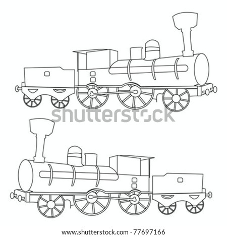 locomotive vector - stock vector