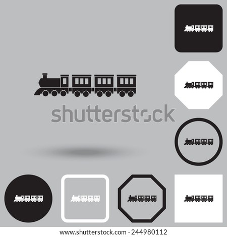Locomotive vector icon. - stock vector
