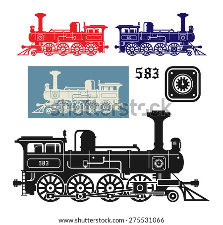 Locomotive, vector illustration - stock vector