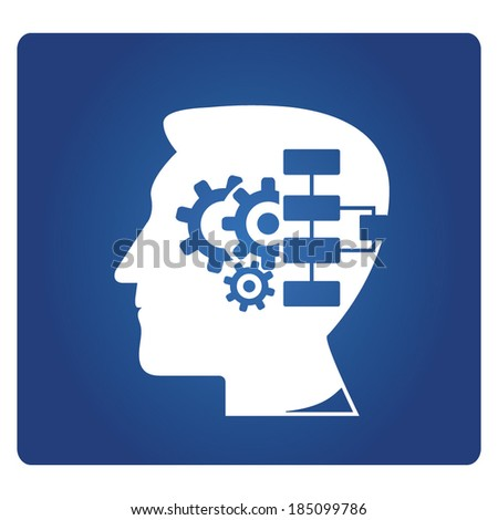 logical thinking, systematic thinking - stock vector