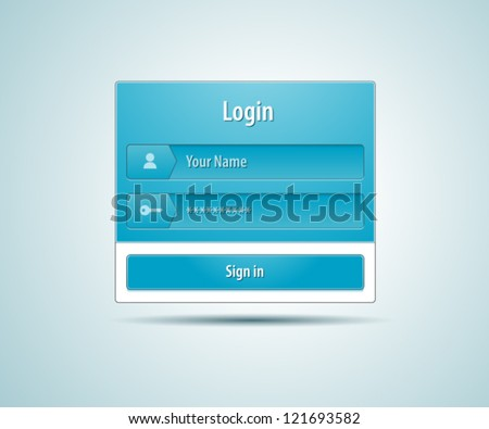 Login and registration web ui form window - stock vector