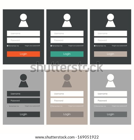 Login form. Flat design. Vector illustration - stock vector