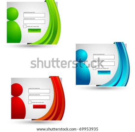 login forms set - stock vector