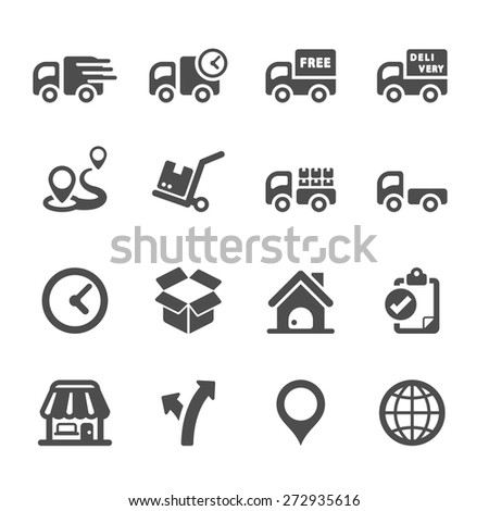 logistic icon set 2, vector eps10. - stock vector