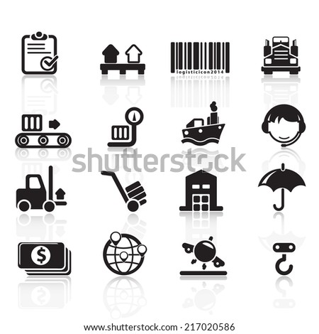 Logistic Icons Vector files - stock vector