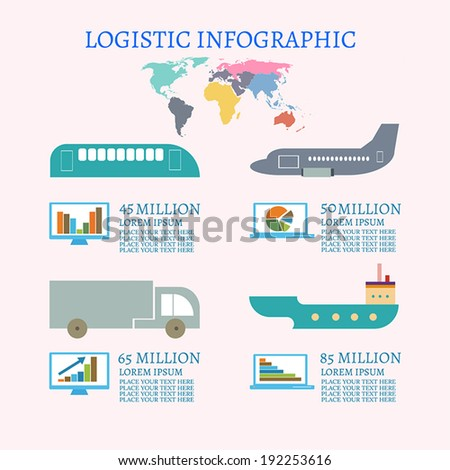 Logistic infographic - stock vector