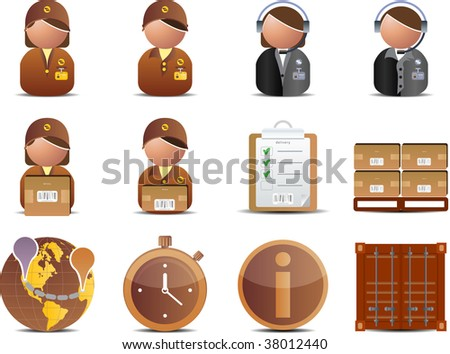 Logistics and Delivery icons set - stock vector