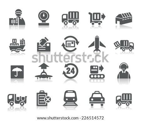 Logistics and Transport Icons - stock vector
