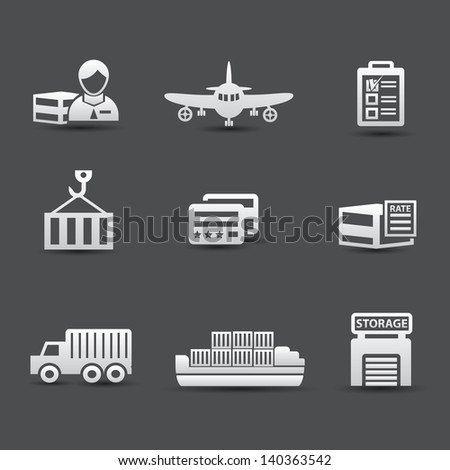 Logistics and transport universal icons,vector - stock vector
