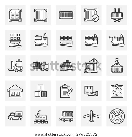 Logistics icon sets. - stock vector