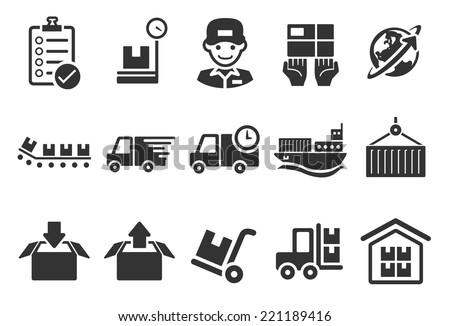 Logistics Icons - Illustration - stock vector
