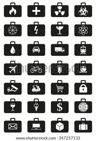 Logistics Service Icons Set Represented By Stock Vector 347237132