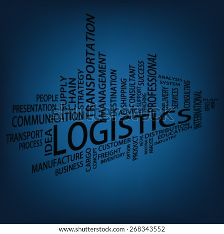 Logistics Tag Cloud, vector - stock vector