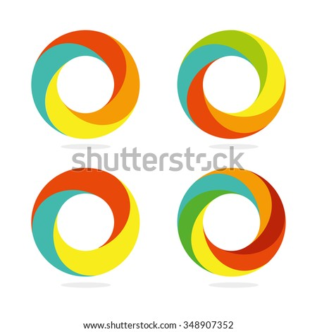 Logo. Abstract. Round. Vector. Colorful round logo. Colorful round icon. Colorful round sign. Colorful round symbol. Colorful round emblem. Colorful round sign. Colorful round favicon. - stock vector