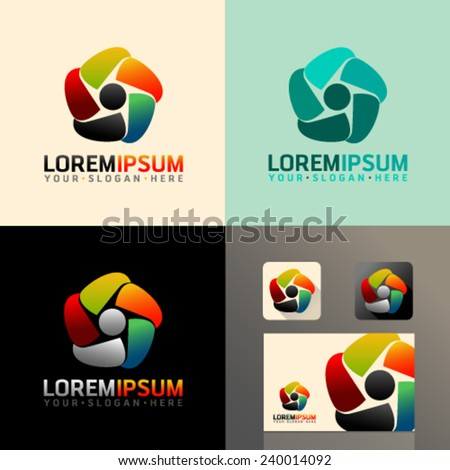 Logo and Abstract web Icon and heart vector identity symbol. Unusual icon on business card. Graphic design easy editable for Your design.  - stock vector