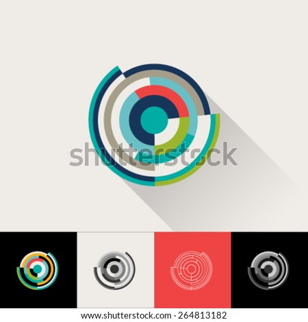 Logo and Abstract Web Icon globe vector Element. Unusual Flat identity icon easy editable for Your design. - stock vector