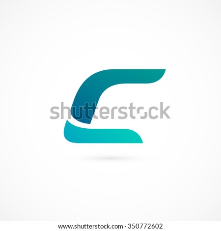 Logo C letter. Isolated on white background. Vector illustration, eps 10.