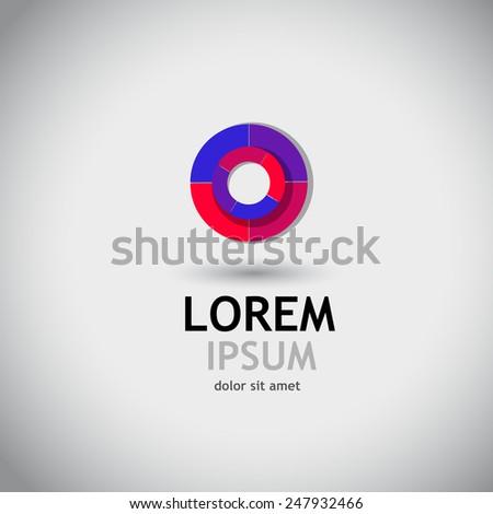Logo circle color spectrum. Vector - stock vector