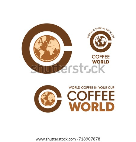 Logo coffee world coffee cup world vectores en stock 718907878 logo coffee world coffee cup world map coffee foam corporate identity illustration gumiabroncs Image collections
