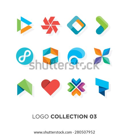 Logo collection 03. Vector graphic design elements for your company logo. - stock vector