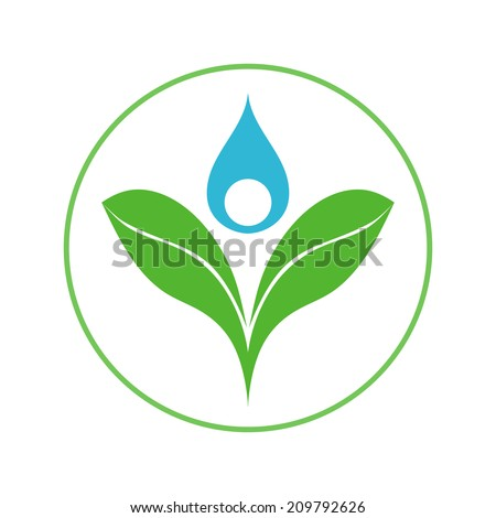 logo company biotechnologies, agricultural research, cultivation and use of natural products - stock vector