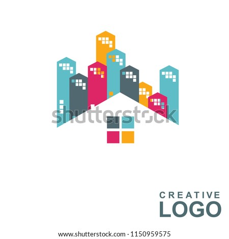 Logo Creative Home Property Concept with colorful