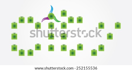 Logo design - stock vector