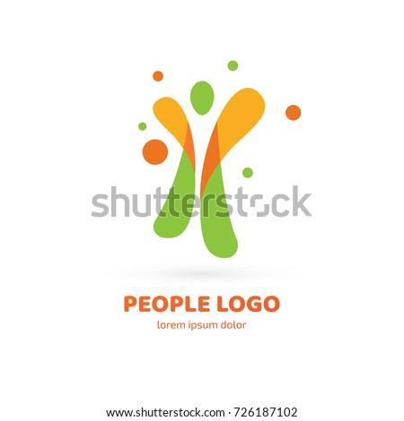 logo design abstract people vector template stock vector royalty