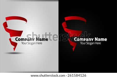 Logo design elements - vector template - isolated corporate logo. easy to use - stock vector